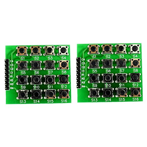 4x4 Matrix Keyboard Module with 16 Keys Keypad Push Buttons Pack of 2 from Optimus Electric