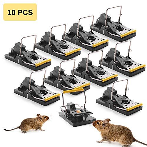 Ulikey 10 Stück Profi Mausefalle Rattenfalle Schlagfalle aus Metall, Mausefalle Hygienisch Wiederverwendbar Effektive Tötungsfallen Mäuse Falle in Haus und Garten