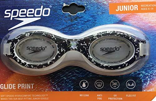 Speedo Junior Jr. Glide Print Goggle - Black