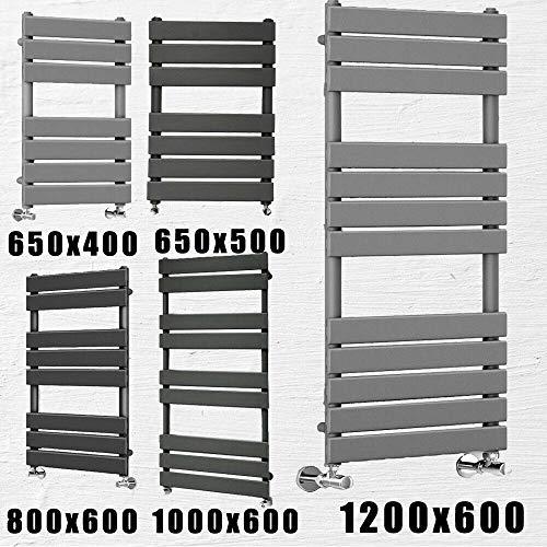 Antraciet Verwarmde Badkamer Handdoek Ladder Radiator Rail Rad Warmer Moderne Centrale Verwarming Flat Panel Ruimte besparen, 20 Jaar Garantie