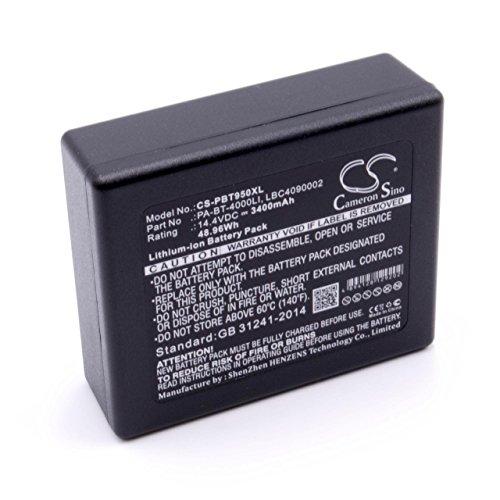 vhbw Li-Ion Akku 3400mAh (14.4V) kompatibel mit Drucker Kopierer Scanner Etiketten-Drucker Ersatz für Brother LBC4090002, LBD709-001, LBF3250001, PA-BT-4000LI