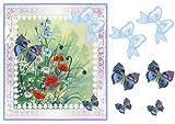 Margherite, papaveri e farfalle decoupage step by step by Pamela West