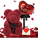 "U UQUI 10"" Rose Teddy Bear"