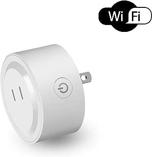 Htwon スマートプラグ Wifi ミニスマートコンセント Alexa Echo/Googleホーム/IFTTT対応 電気スイッチコントロール タイマーコンセント 遠隔操作 スマートスイッチ 音声コントロール 直差しコンセント 日本語説明書付き