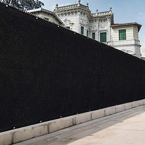 Sunkorto Pantalla Protectoras Valla Privacidad Malla de Estera Bloques UV Protección Visual Privacidad para Jardín al Aire Libre Red de Cerca 1.2m Negro