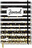 Bullet Journal dotted A5 mit Gummiband [Black & White] 156 Seiten | Notizbuch gepunktet, Tagebuch von Trendstuff by Häfft | nachhaltig & klimaneutral