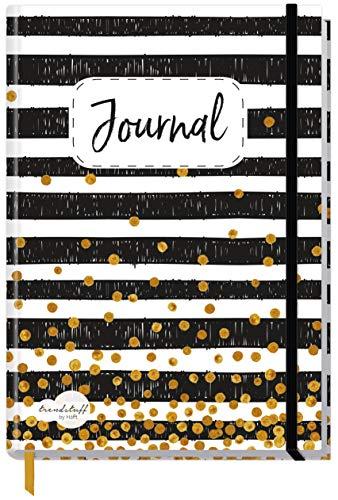 Bullet Journal dotted A5 mit Gummiband [Black & White] 156 Seiten   Notizbuch gepunktet, Tagebuch von Trendstuff by Häfft   nachhaltig & klimaneutral