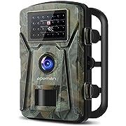 """APEMAN Wildkamera mit Bewegungsmelder 1080P 12MP Infrarote 20m Nachtsicht Wasserdichte IP66 Überwachungskamera mit 2.4"""" LCD Display Fotofalle"""