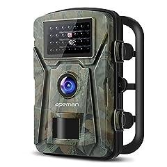 """APEMAN Wildlife Kamera Foto fälla 1080P Full HD 16MP Jaktkamera vidvinkel Vision Infraröd 20m Night Vision Vattentät IP66 Övervakningskamera med 2,4 """"LCD-skärm"""