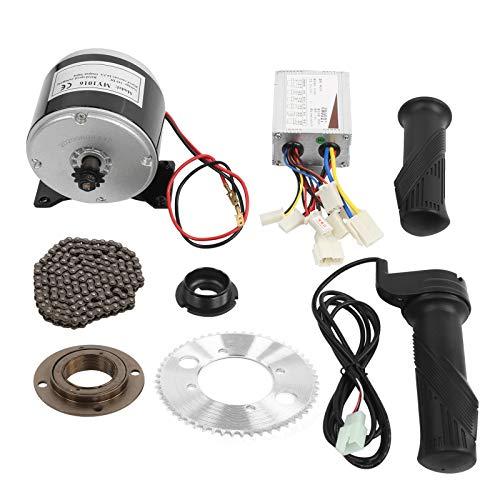 Alomejor Kit Motore Scooter Set di Conversione con Volano della Catena Dell'impugnatura Dell'acceleratore del Controller per Bici Elettrica