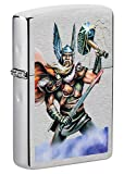 Zippo Thor Design Brushed Chrome Pocket Lighter