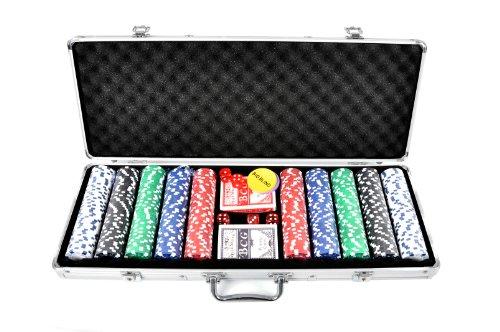 FA Sports, Valigetta per fiches da Poker Pokerkoffer Casino Ocean 500 Poker Chip Set, Argento (Silber), 58 x 24 x 7,5 cm [Importato dalla Germania]