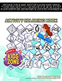 Dinosaurs Coloring Book For Kids: 40 Fun Therizinosaurus, Styracosaurus, Pteranodon, Corythosaurus, Corythosaurus, Allosaurus, Allosaurus, ... Quizzes Words Activity And Coloring Books