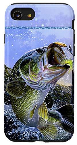 iPhone SE (2020) / 7 / 8 Largemouth Bass Fishing for men Cool Fish Hunting Gift Case