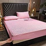 XLMHZP Sábana Ajustable de látex Impresión Plegable Enfriamiento Colchoneta de Dormir de Verano Tamaño Queen Lovely...