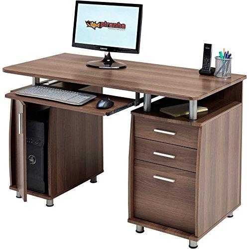 Piranha Großer Computertisch mit 3 Schubladen und einem Unterschrank PC 2w