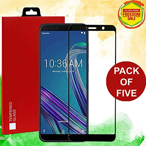 ZenFone Max Pro M1 Original Goelectro SHATTERPROOF Bubble Free 5D Tempered Glass Screen Protector with Original Packaging Kit for ZenFone Max Pro M1/ MaxPro M1 (Pack of 5) with 1 Year True Warranty
