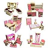 Blaward Minipuppen Zubehör Holz Spielzeug Set Puppenhaus Möbel Puppe Zubehör DIY Set Miniatur...