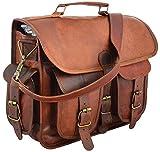 "15"" Leather Messenger Bag Laptop case Office Briefcase Gift for Men Computer Distressed"