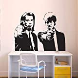 supmsds Adesivo con Stampa Decorazione Applique da Parete in Vinile Poster Pulp Fiction Print133X102CM