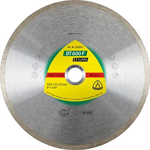 Klingspor dT 600 f sUPRA aDT diamantwerkzeuge gmbH disque à tronçonner diamanté pour carrelage standard pour meuleuse d'angle 180 x 1,6 x 22,23 mm