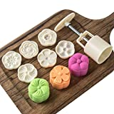 Cookie Stamp Moon Cake Mold Stamps, Cookie Press Mid Autumn Festival DIY Decoration Press Cake Cutter Mold (50g...