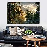 WJY Seigneur des Anneaux Dwimordene Toile Affiches Affiches Marbre Abstrait Mur Art Peinture Images Décoratives Moderne Maison Decoration 60cm x90cm No Frame