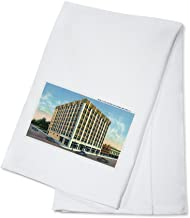 Moline, Illinois - Exterior View of the New Fifth Avenue Building (100% Cotton Kitchen Towel)