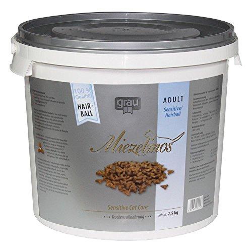 Grau Tiernahrung Miezelinos Adult Sensitive-Hairball mit Geflügel