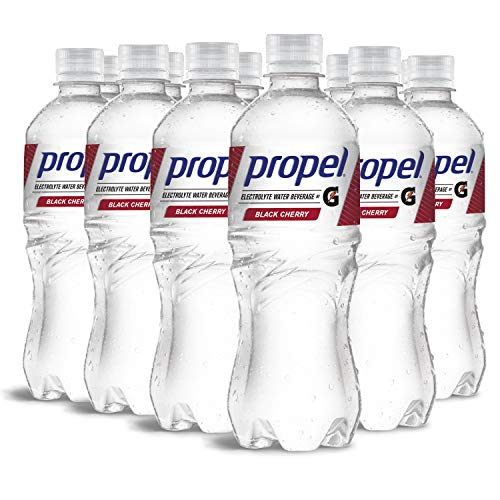 Propel, Black Cherry, Zero Calorie Sports Drinking Water with Electrolytes and Vitamins C&E, 16.9 Fl Oz (12 Count)