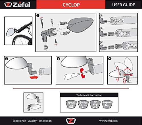 Zefal Fahrradspiegel Cyclop schwarz one size - 6