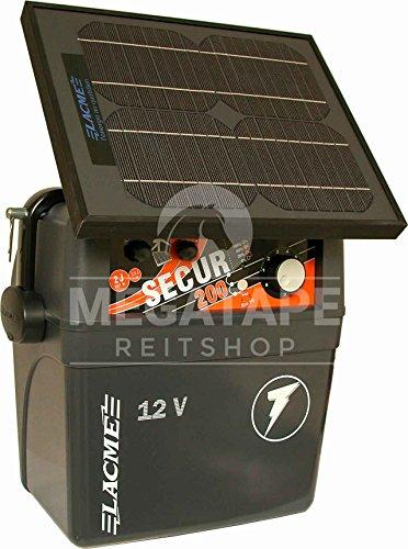Weidezaun Batteriegerät mit Solarmodul, Lacme Secur Star 12V-10W Solarmodul, 2,0 J