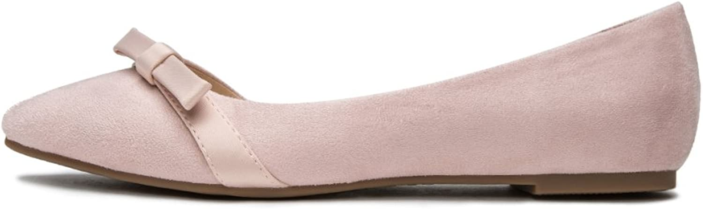 DHG Frühlings-Süße Schönheits-Schuhe, Nette Dame Ribbon Weiß schuhe, Tiefe Vorderrundkopf-Schuhe, Vorderrundkopf-Schuhe, Vorderrundkopf-Schuhe, Flache Schuhe,Rosa,36  5add0f