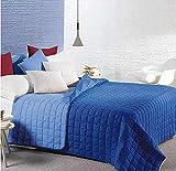 Caleffi Tagesdecke Gesteppt Modern Bett Einzelbett Farbe Kornblumenblau