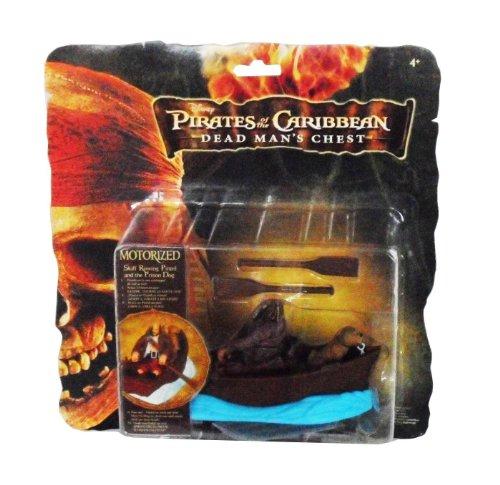Disney - 4515 - Pirates of the Caribbean - Dead Men's Chest - Pirates en mouvement - Pintel, Chaloupe et chien - motorisée