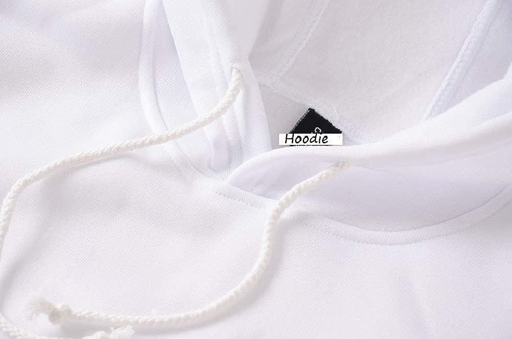 Achruor Kapuzenpullover Damen Hoodies Mädchen Jungen Pullover Teenager Winter Herbst Fashion Herz Mustern Langarmshirts Mit Kapuzen Oberteile Sweatshirts Weiß5