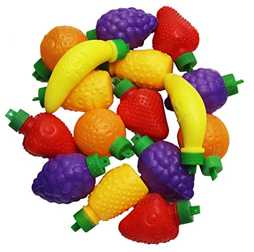 Fruit Shape Powder Filled Candy - Gluten Free Kosher Pack of 25 units - For Decorations Arrangements Kids Treats for Holiday or any Occasions - By Zazers … (Assorted)