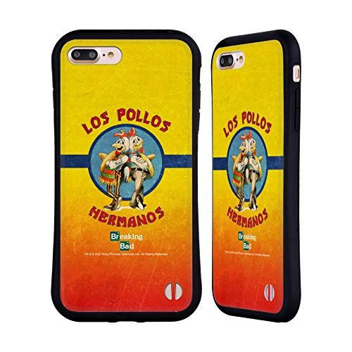 Head Case Designs Licenza Ufficiale Breaking Bad Los Pollos Hermanos Grunge Iconico Cover Ibrida Compatibile con Apple iPhone 7 Plus/iPhone 8 Plus