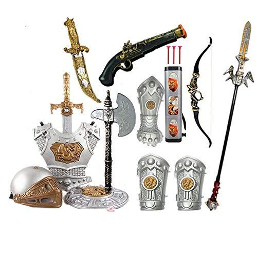 Lvbeis Helm Schild Brustpanzer Ritter Harnisch Mittelalter Rüstung Ritterrüstung Kinder Karneval Kostüm Zubehör Kinder Ritterrüstung,18