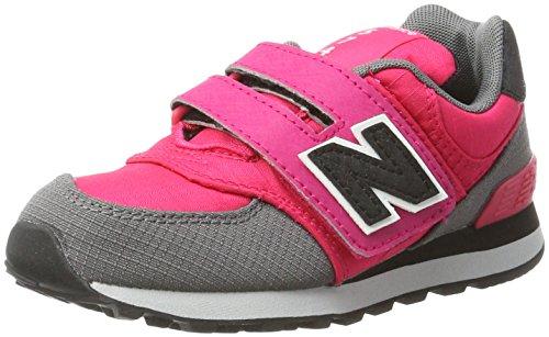 New Balance New Balance, Unisex-Kinder Sneaker, Mehrfarbig (Pink/grey), 25 EU (7.5 UK Child)