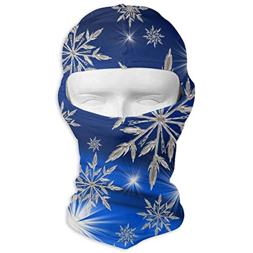 Unisexe Respirant Flocons De Neige Art Noël Nouvel an Hiver Plein Coupe-Vent Poussière Protection UV Balaclava pour Randonnée Vélo Pêche et Sports