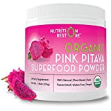 Nutrition Restore - 55 Servings - Organic USDA-Certified Red Dragon Fruit Powder (Pink Pitaya) - 7.9 oz - Freeze Dried - Raw - Vegan - Superfood - Plant Based - Antioxidant - Vitamin C - 100% Natural