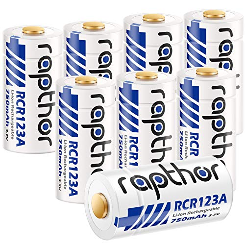 Rapthor 8 Pack CR123A Lithium Batteries for Arlo...