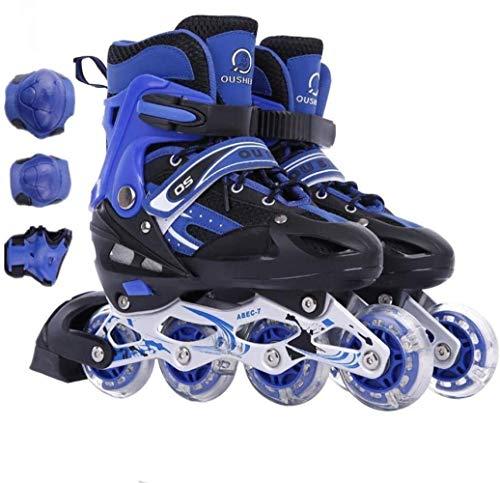 LQ Zapatillas de patinaje sobre hielo para niños de 3/6/7/10 años de edad, 3 colores