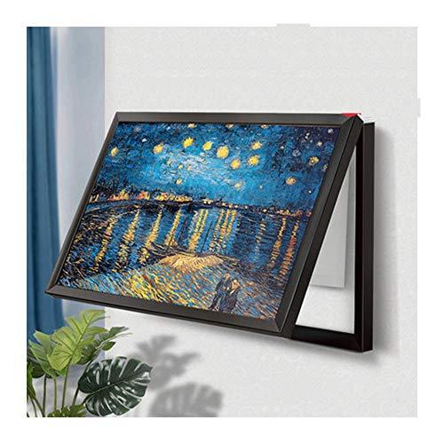 Nwn Caja de medidor sin Perforaciones Pintura Decorativa Sala de Estar Bloque de distribución Mural Interruptor Push-Pull Caja eléctrica débil Pintura de Cristal (Color : D, Size : 50 * 60cm)