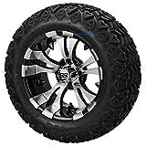 14' VAMPIRE Machined/Black Aluminum Wheels and 23x10-14' DOT All Terrain Golf Cart Tires...