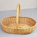 WUYUESUN Picnic cestas de Mano Inicio Salida de Compras Comprar Verduras Fruit Basket 39 x 30 x 30 cm Amarillo