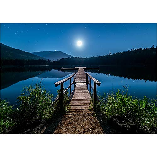 Puzzle Jigsaw Little Bridge Lake, British Columbia 500/1000/2000/3000 Pieces Color Challenge Jigsaw for Adults and Kids 1009 (Size : 3000 Pieces)