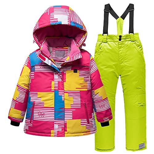 YQSR Conjunto de calentador eléctrico USB de plumón para bebé, mono de nieve, para niños, piel sintética, chaqueta de invierno, chaqueta de esquí con capucha
