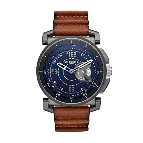 Diesel On SLEEPER Hybride smartwatch met bruine leren band - voor heren DZT1003